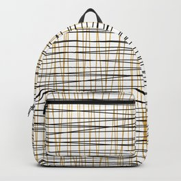 Line Art - Gold and Black Lines on White - Mix and Match with Simplicty of Life Backpack
