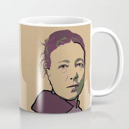 Simone de Beauvoir Coffee Mug