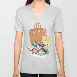 What's in my bag Illustration Unisex V-Neck