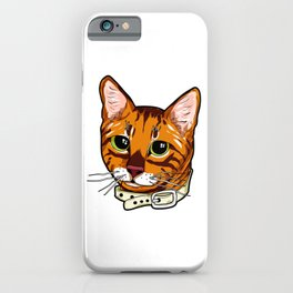 Toyger Cat face Cats orange cute funny gift comic iPhone Case