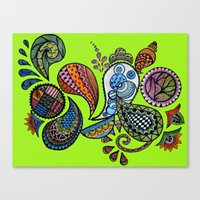 paisley Canvas Prints featuring Paisley by Sketchii Studio