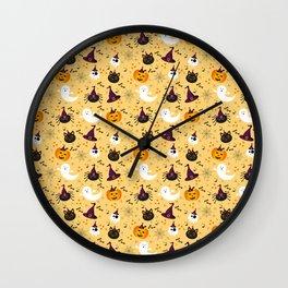 Halloween Twist - Pale Yellow Wall Clock