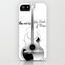 The acoustic guitar - Music, The Frontier of Dreams. iPhone Case