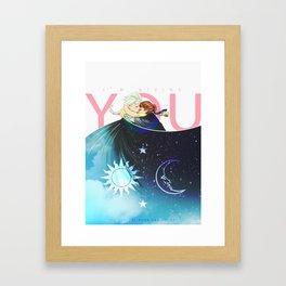 The Sun, the Moon and the Sky Framed Art Print