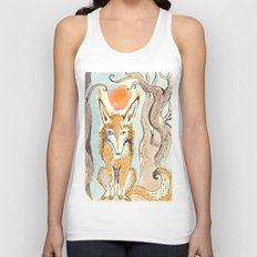 Whimsical Fox Unisex Tank Top
