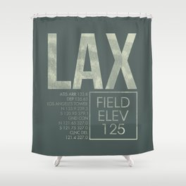LAX II Shower Curtain