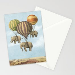 Flight of The Elephants - colour option Stationery Cards