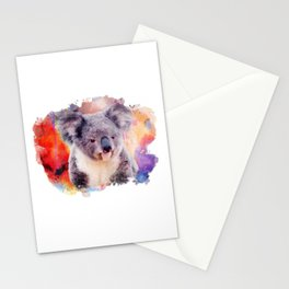 Watercolor Koala Stationery Cards