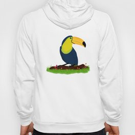 colorful toucan bird on a branch in the herbs nature Hoody