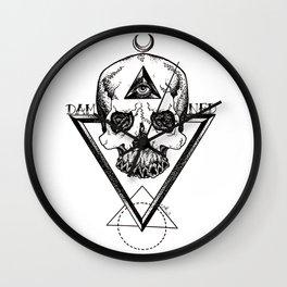 Damned Skull Wall Clock
