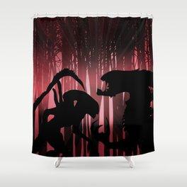 Forest Aliens Shower Curtain