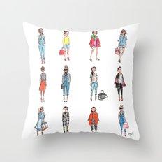 Favorite Sketches Throw Pillow