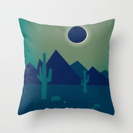 Desert Eclipse Throw Pillow