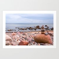 geology Art Prints featuring At the beach by UtArt