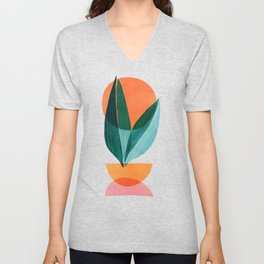 Nature Stack II / Abstract Shapes Illustration Unisex V-Neck