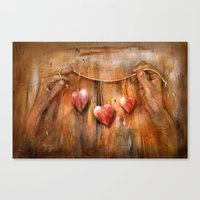 hearts Canvas Prints featuring Hearts ! by teddynash