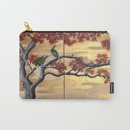 Japanese Fall Leaves Carry-All Pouch