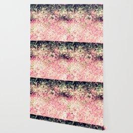 Mauve Forest Green Pixels Wallpaper