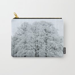 Frozen and Frosted Trees Carry-All Pouch