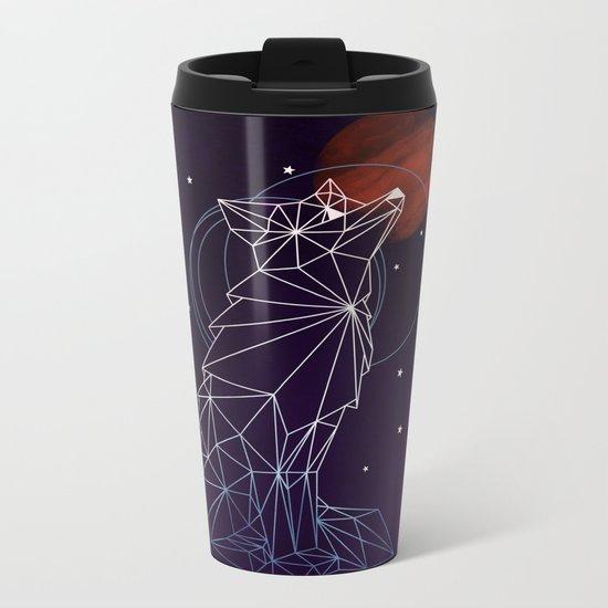 Fox in the Stars Metal Travel Mug