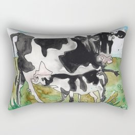 Mommy Milk Cow Rectangular Pillow