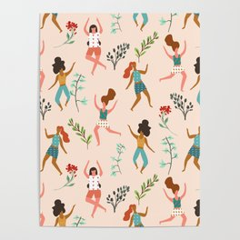 Central Park Zumba #illustration #pattern #womensday Poster