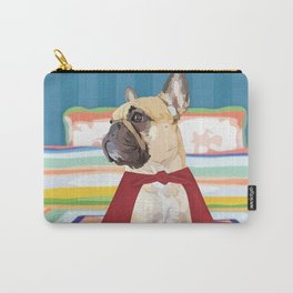 Super Frenchie: French Bulldog in Cape Carry-All Pouch