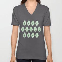 Green Leaves Unisex V-Neck