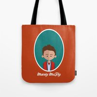marty mcfly Tote Bags featuring Marty McFly by Juliana Motzko