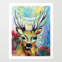 Deer Heart Art Print