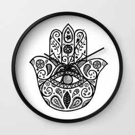 The hamsa hand Wall Clock