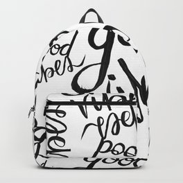 Good Vibes Pattern Backpack