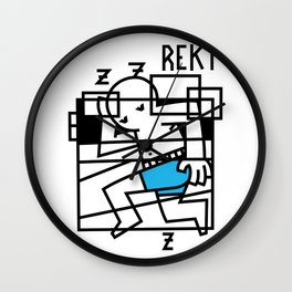 Pass Out Wall Clock