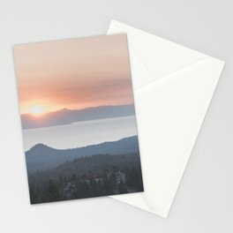 Mountain Top View Stationery Cards