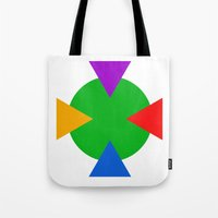 ninja turtle Tote Bags featuring Teenage Mutant Ninja Turtle Minimalist by The Fenix