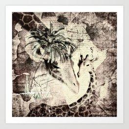 Afrikas Giraffen Art Print