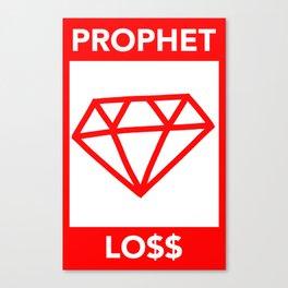 P&Ls: Diamond Red Canvas Print