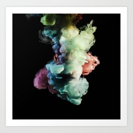 Colored Smoke Two Art Print