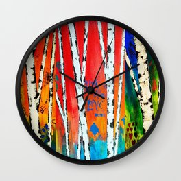 Birch Wall Clock