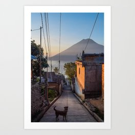 Sav and the Volcano Art Print