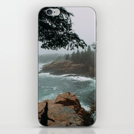 Foggy Morning in Acadia National Park iPhone Skin