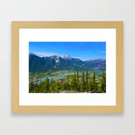 Overlooking the Athabasca River from the Morrow Peak Hike in Jasper National Park, Canada Framed Art Print