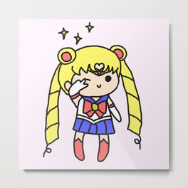 Sailor Moon Chibi Metal Print