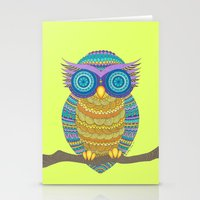 henna Stationery Cards featuring Henna Owl by haleyivers