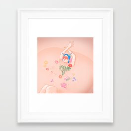 Flower Bath Framed Art Print