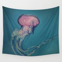 jellyfish Wall Tapestries featuring Jellyfish by Pure Nature Photos