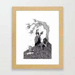 Sister Fair / Fair, Brown, and Trembling Framed Art Print