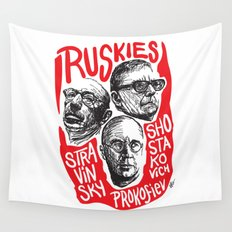 Ruskies-Russian composers Wall Tapestry