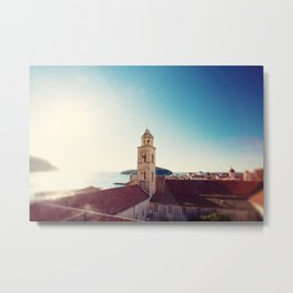 View of the Sea in Dubrovnik Croatia Metal Print