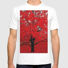 TREES White MEDIUM Mens Fitted Tee